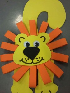 free lion craft idea