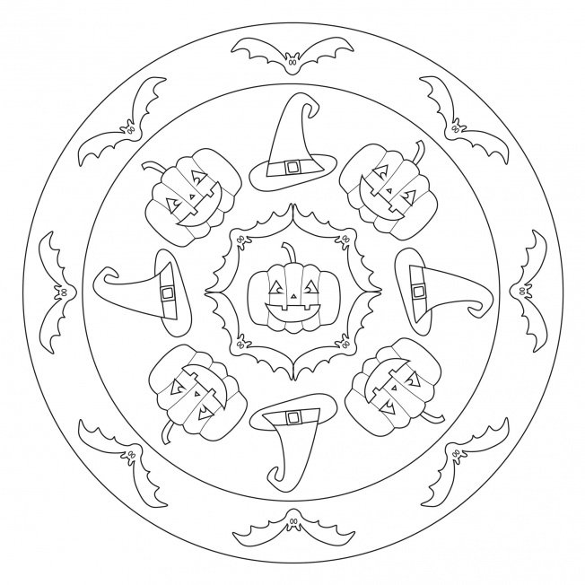 Halloween Mandala For Preschool Crafts And Worksheets For