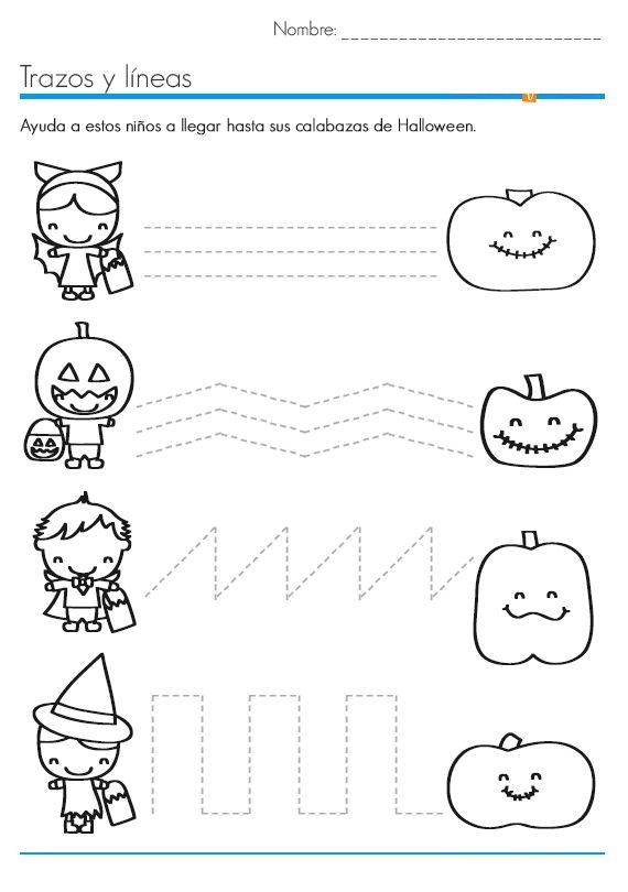 Halloween worksheets for kids – Printable Halloween Worksheets
