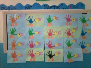 handprint bird craft