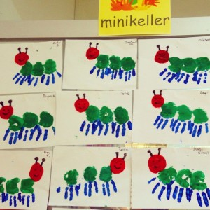 handprint caterpillar craft