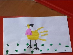 handprint hen craft