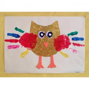 handprint owl craft