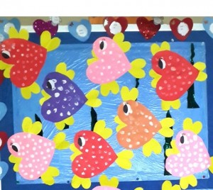 heart fish craft idea