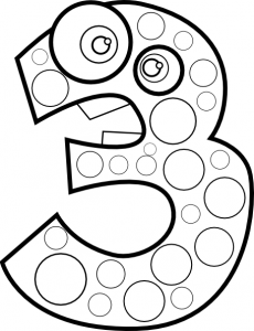 numbers coloring page crafts and worksheets for preschool toddler