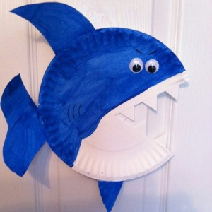 paper plate jaws craft