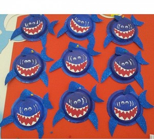paper plate jaws crafts