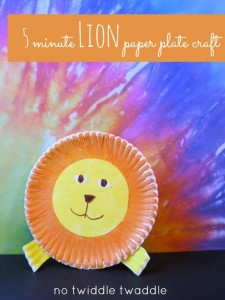 paper plate lion craft idea