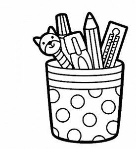 pen holders coloring page