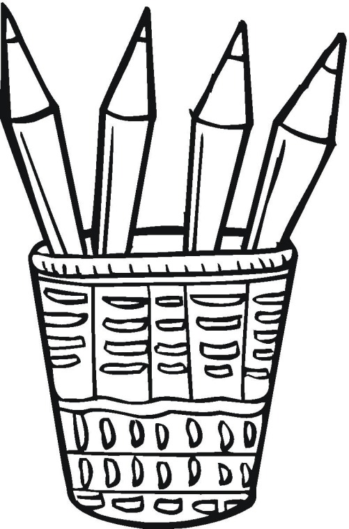 pencils coloring pages - photo#11