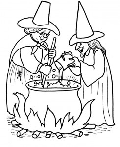 printable witch coloring page (3)