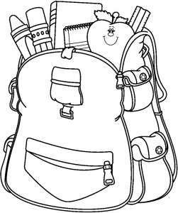 school bag coloring page
