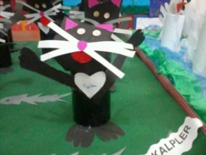 toilet paper roll cat craft