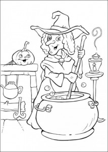 witch coloring for halloween (5)