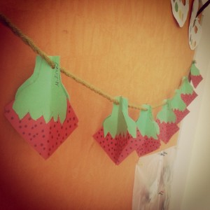 3d strawberry craft