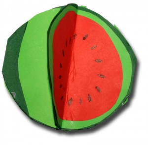 3d watermelon craft