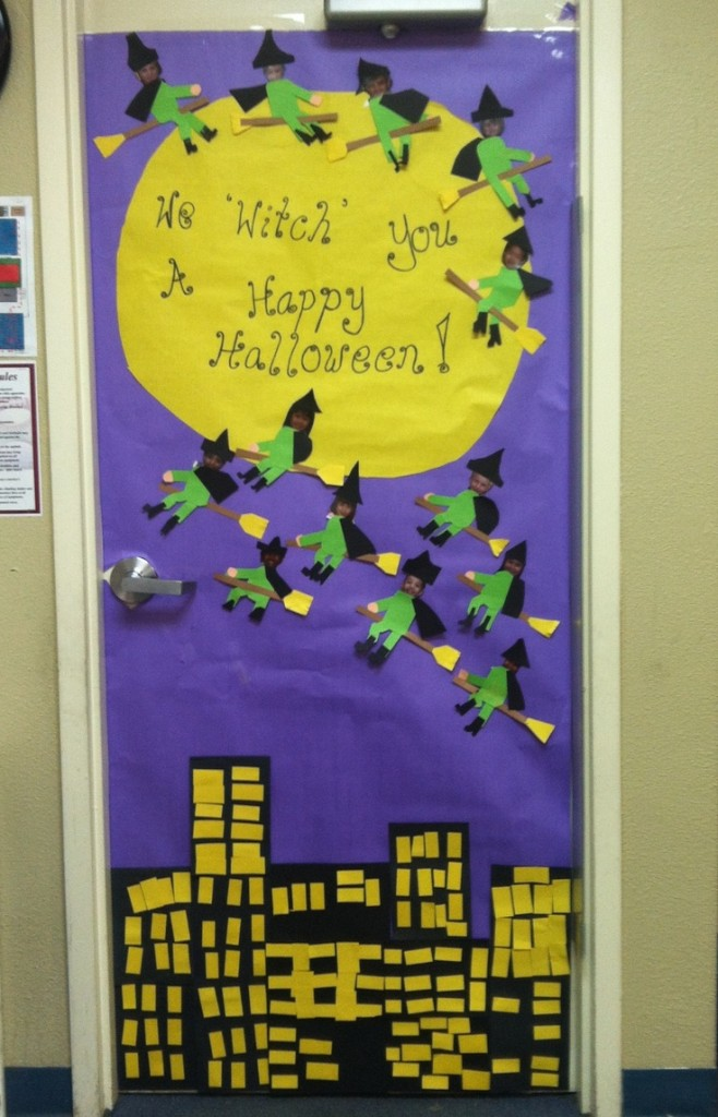 Awesome Classroom Decor ~ Halloween door decorations for elementary schools back