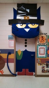 Thanksgiving Pete the cat classroom door