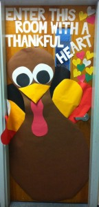 Thanksgiving classroom door.