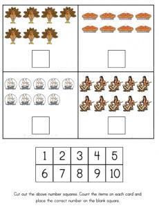 Thanksgiving counting worksheet  2