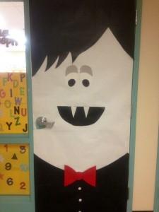 Vampire classroom door decoration