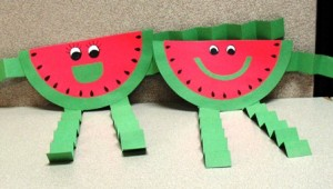 Watermelon craft idea