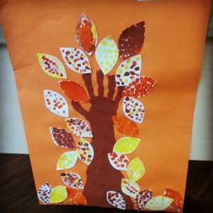 autumn tree craft