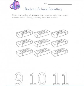 back to school counting worksheet 1