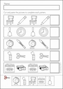 back to school pattern worksheet