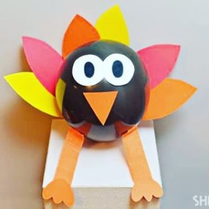 balloon turkey craft