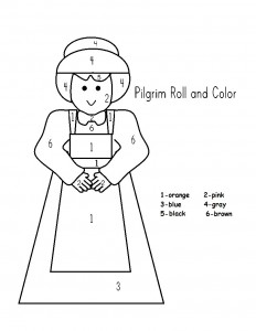 color by number pilgrim