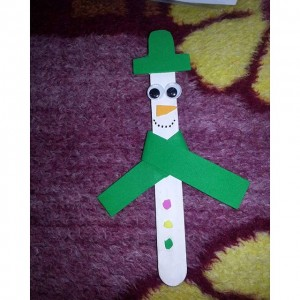 free popsicle stick snowman craft