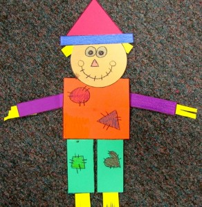 geometry scarecrows craft