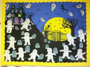 Halloween Bulletin Board Idea Crafts And Worksheets For Preschool