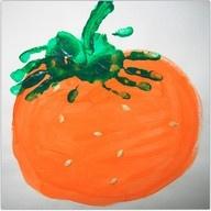 handprint pumpkin craft