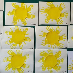 handprint sun craft idea