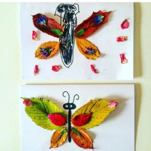 leaf butterfly craft idea