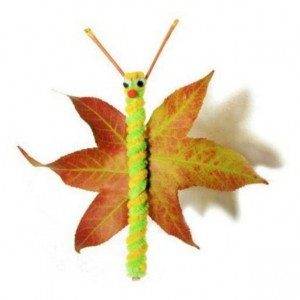 leaf butterfly craft idea for kids