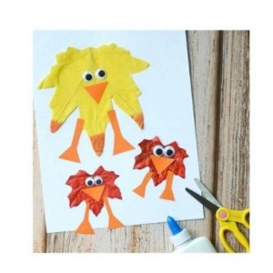 leaf chick craft