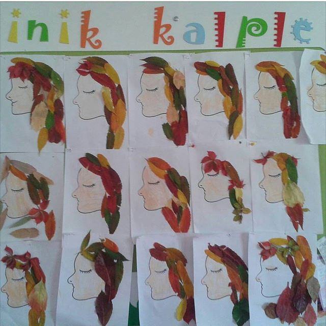 leaf girl craft