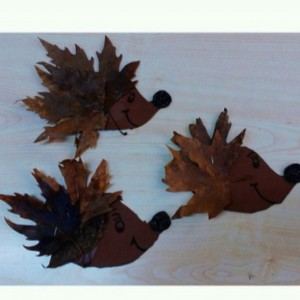 leaf hedgehog craft