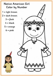 native_american_girl_color_by_number