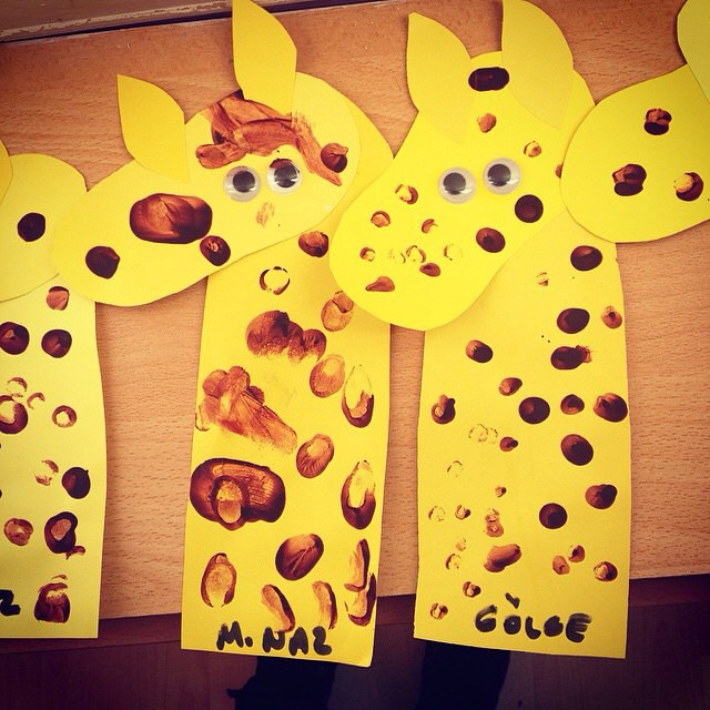 number 1 giraffe craft