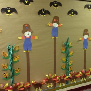 octaber bulletin board idea for kids (2)