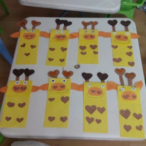 paper bag giraffe craft