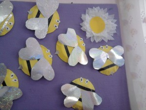 paper plate bee craft idea