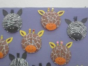 paper plate giraffe craft idea