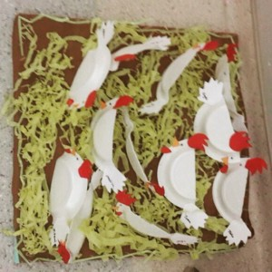 paper plate hen craft