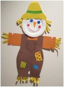 paper plate scarecrow craft idea