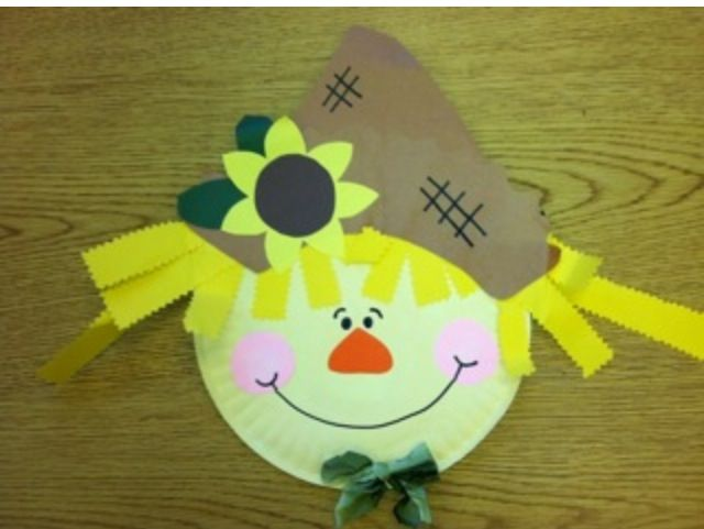 paper plate scarecrow craft